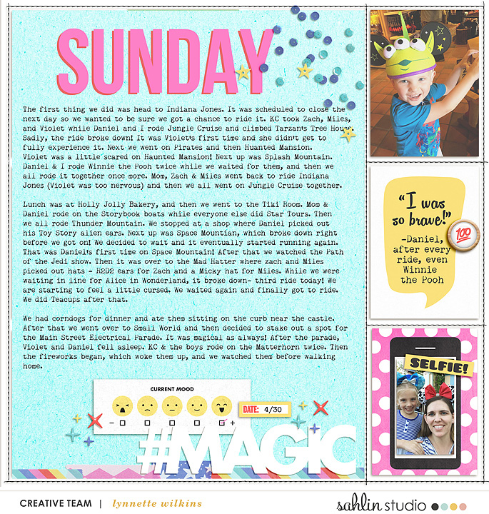 This is my Happy Place Digital Project Life scrapbook layout using Project Mouse (Pop) by Britt-ish Designs