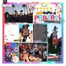 Disney Party Digital Project Life scrapbook layout using Project Mouse (Pop) by Britt-ish Designs