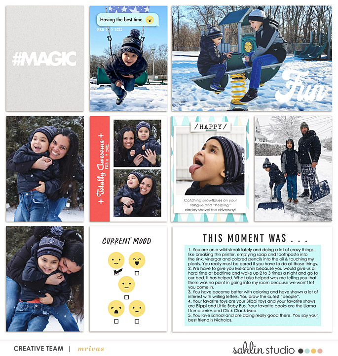 Remember Digital Project Life scrapbook layout using Project Mouse (Pop) by Britt-ish Designs