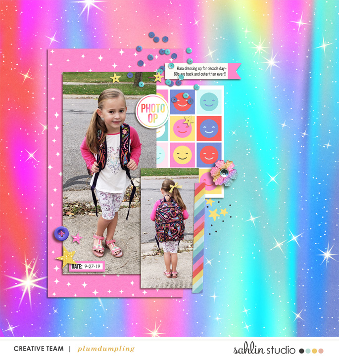 Photo Op Digital Scrapbooking layout scrapbook layout using Project Mouse (Pop) by Britt-ish Designs