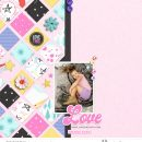 Love Digital Scrapbooking layout scrapbook layout using Project Mouse (Pop) by Britt-ish Designs
