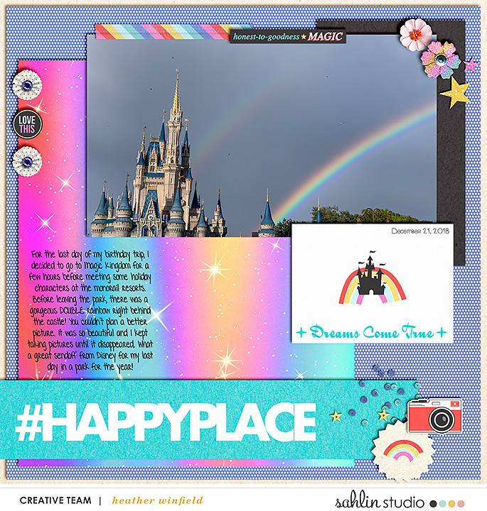 This is my Happy Place Digital scrapbook layout using Project Mouse (Pop) by Britt-ish Designs