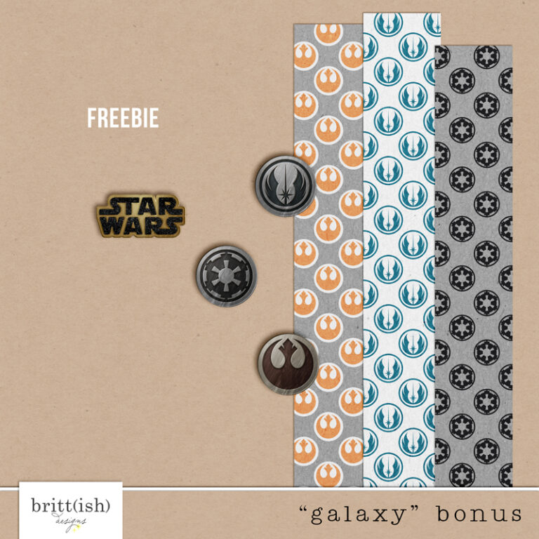 Project Mouse (Galaxy): FREEBIE by Britt-ish Designs - Perfect for all of your Disney Star Wars layouts, in your scrapbookings or Project Life albums!!