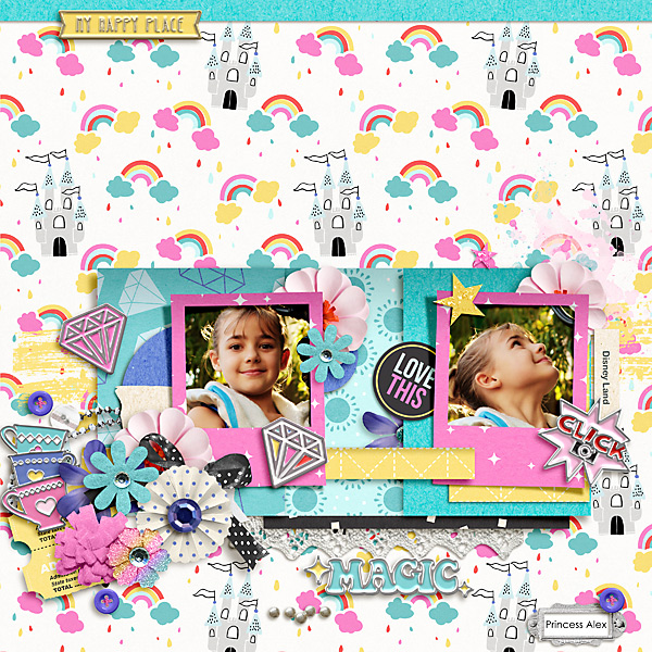 Dream scrapbook layout using Project Mouse (Pop) Extras by Britt-ish Designs