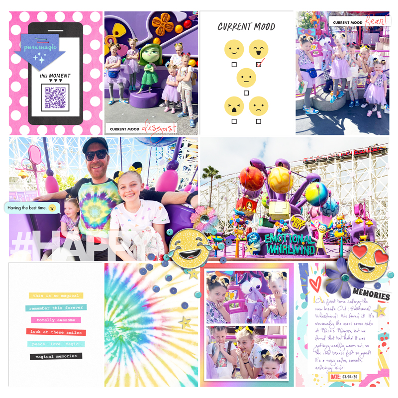 Disney scrapbook layout using Project Mouse (Pop) Extras by Britt-ish Designs