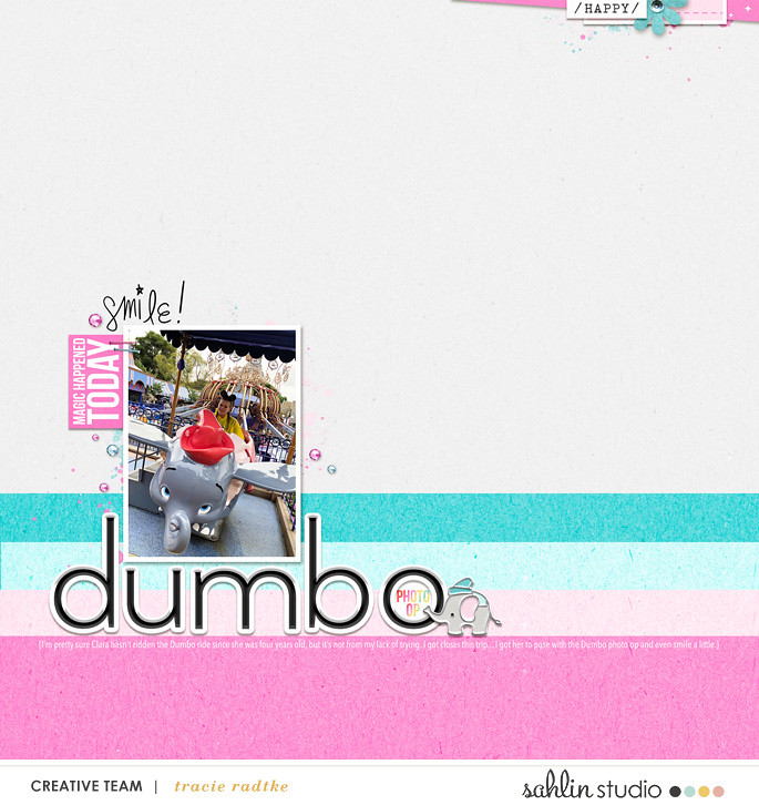 Disney Dumbo Digital scrapbook layout using Project Mouse (Pop) Extras by Britt-ish Designs