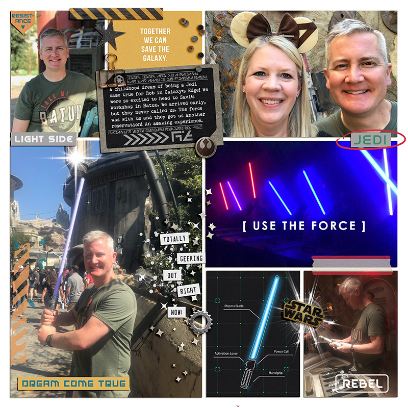Disney Star Keep Calm and Use the Force with this Once digital Project Life scrapbook layout using Project Mouse (Galaxy): by Sahlin Studio