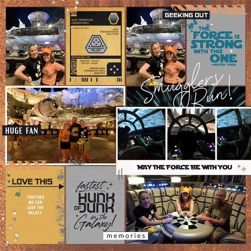 Disney Star Wars The Force is Strong with this Once digital Project Life scrapbook layout using Project Mouse (Galaxy): by Sahlin Studio
