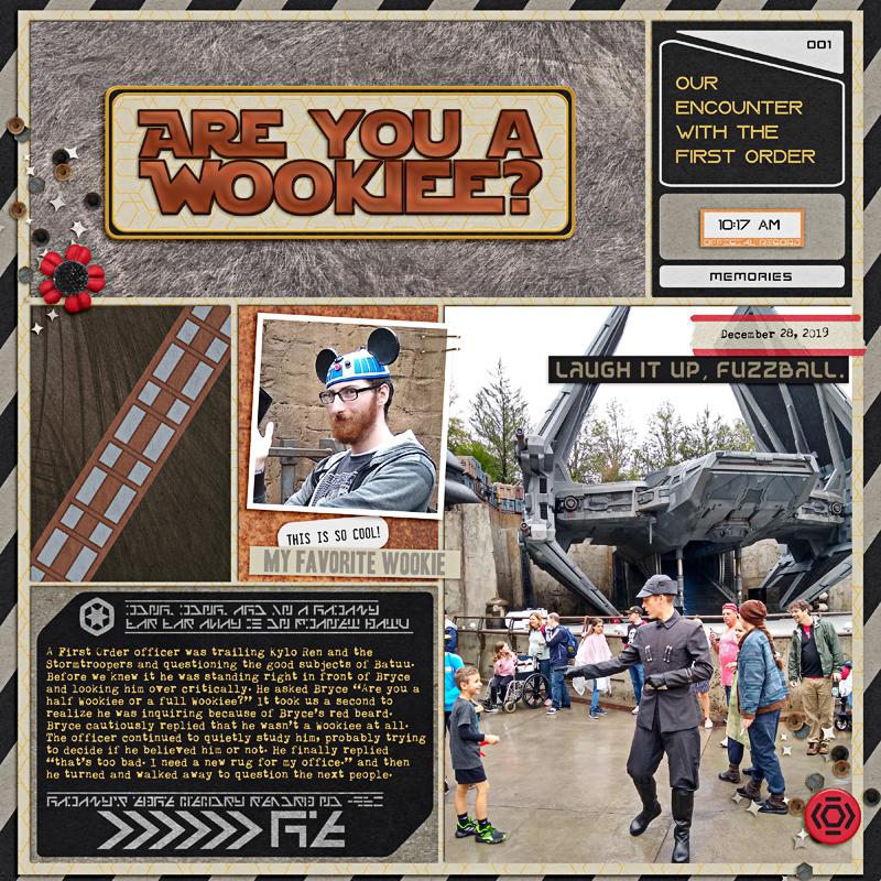 Disney Star Wars Chewie Wookie digital scrapbook layout using Project Mouse (Galaxy): by Sahlin Studio