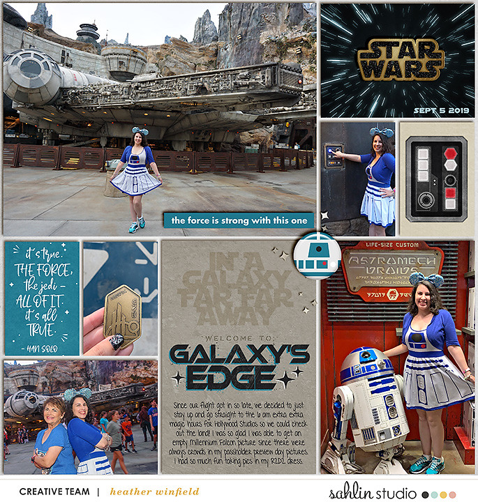 Disney Star Wars Galaxy's Edge digital Project Life scrapbook layout using Project Mouse (Galaxy): by Sahlin Studio