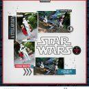 Disney Star Wars digital scrapbook layout using Project Mouse (Galaxy): by Sahlin Studio