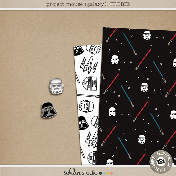 Project Mouse (Galaxy): FREEBIE by Britt-ish Designs and Sahlin Studio - Perfect for all of your Disney Star Wars layouts, in your scrapbookings or Project Life albums!!