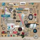 Project Mouse (Galaxy): Elements by Britt-ish Designs and Sahlin Studio - Perfect for all of your Disney Tomorrowland and Star Wars layouts, in your scrapbookings or Project Life albums!!