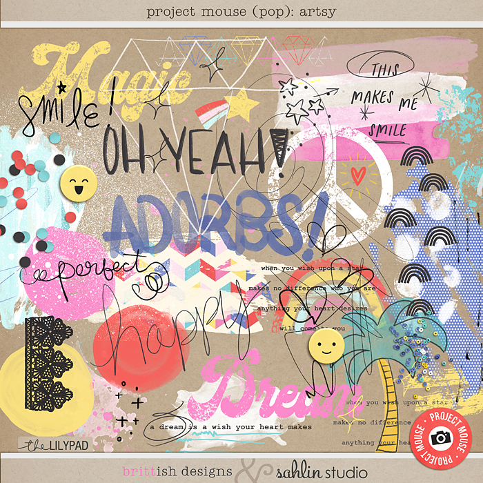 Project Mouse (POP): Artsy by Britt-ish Designs and Sahlin Studio - Perfect for documenting your Disney Project Mouse and Project Life albums!!