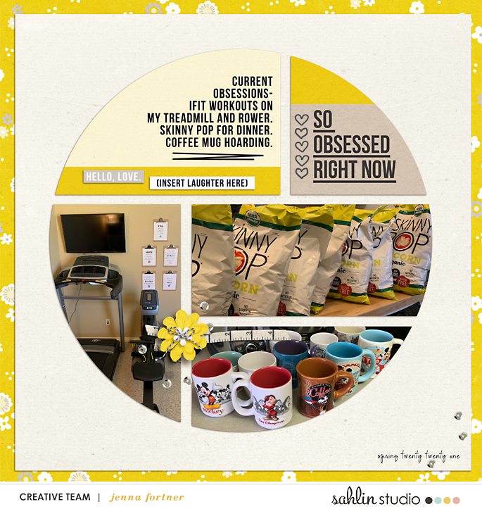 digital scrapbooking layout created by jenna featuring May 2021 FREE Template by Sahlin Studio