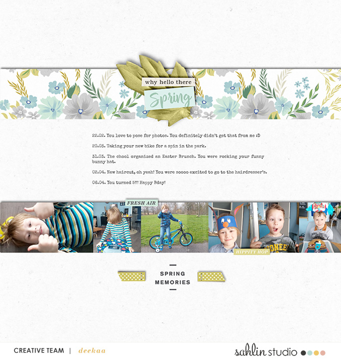 digital scrapbooking layout created by deekaa featuring Spring Stories by Sahlin Studio