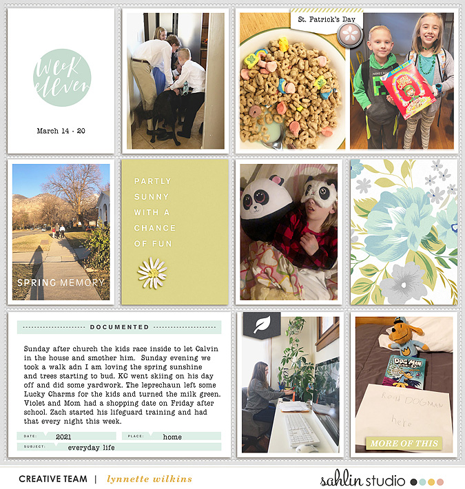 digital scrapbooking layout created by lynnette featuring Spring Stories by Sahlin Studio
