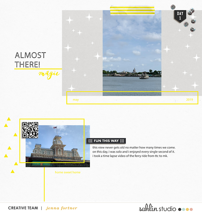 digital scrapbooking layout created by jenna featuring July 2021 FREE Template by Sahlin Studio