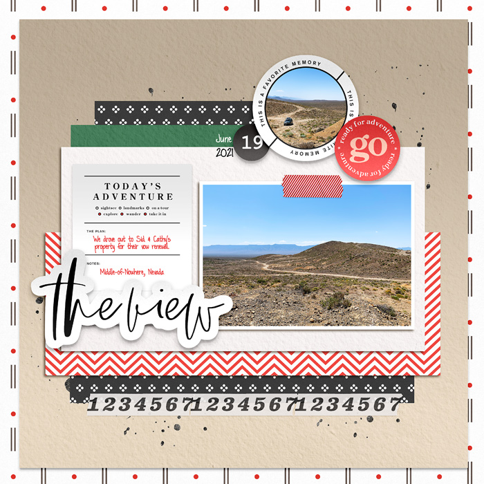 digital scrapbooking layout created by carrie1977 featuring June 2021 FREE Template by Sahlin Studio