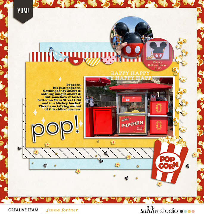 digital scrapbooking layout created by jenna featuring June 2021 FREE Template by Sahlin Studio