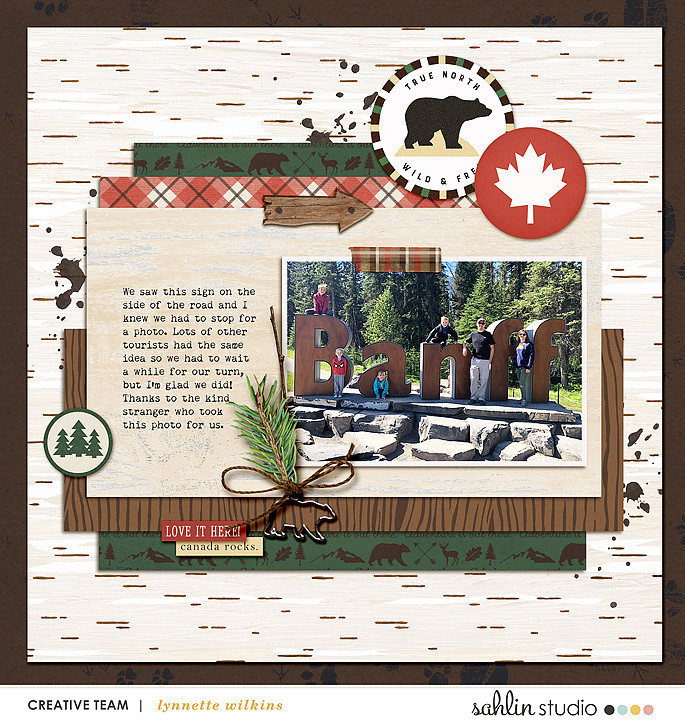 digital scrapbooking layout created by lynnette featuring June 2021 FREE Template by Sahlin Studio