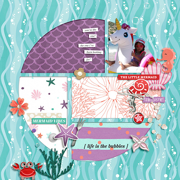 digital scrapbooking layout by cinderella - winner of the May 2021 FREE Template Challenge