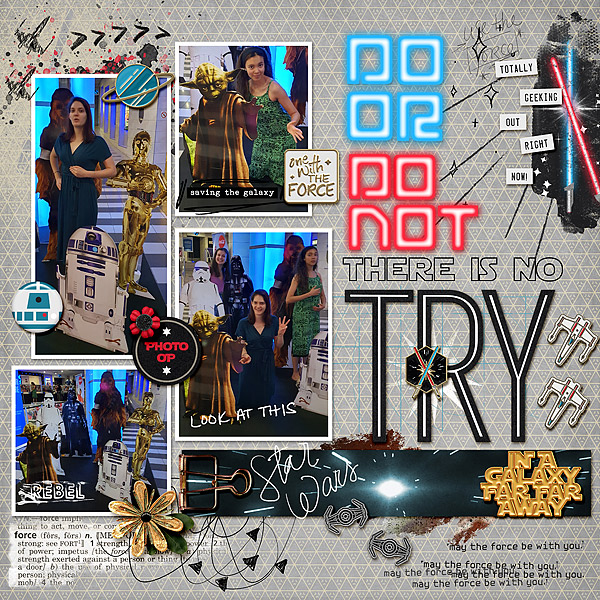 Do or Do Not, There is No Try - Disney Star Wars digital scrapbook layout using Project Mouse (Galaxy) by Brittish Designs and Sahlin Studio