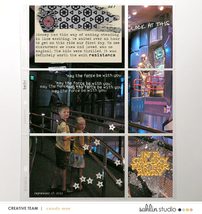 Disney Star Wars Project Life digital scrapbook layout using Project Mouse (Galaxy) by Brittish Designs and Sahlin Studio