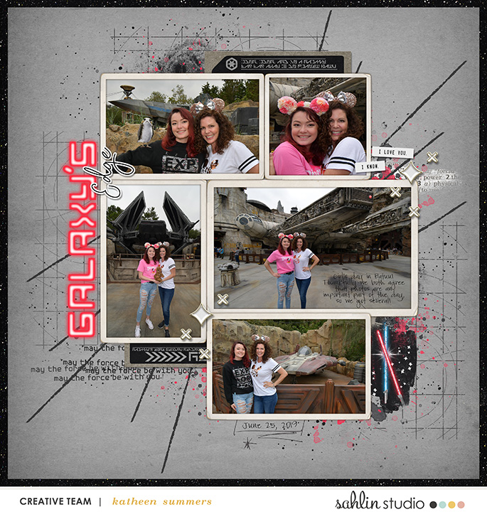 Disney Star Wars Galaxy's Edge digital scrapbook layout using Project Mouse (Galaxy) by Brittish Designs and Sahlin Studio