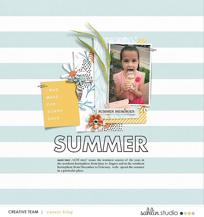 digital scrapbooking layout created by cassie king feautring Summer Stories by Sahlin Studio