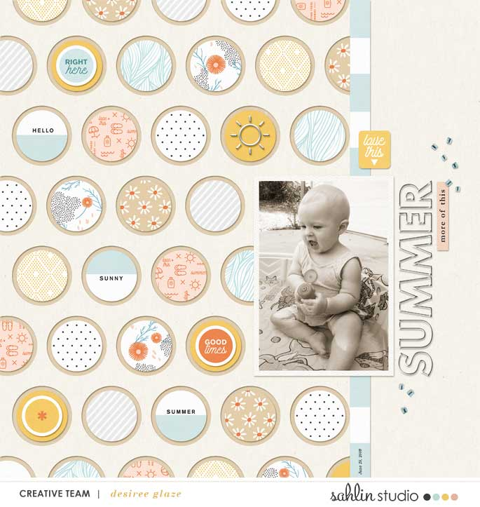 digital scrapbooking layout created by desiree glaze feautring Summer Stories by Sahlin Studio