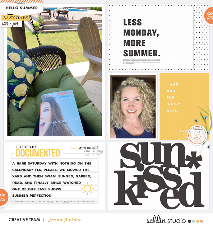 digital scrapbooking layout created by jenna feautring Summer Stories by Sahlin Studio