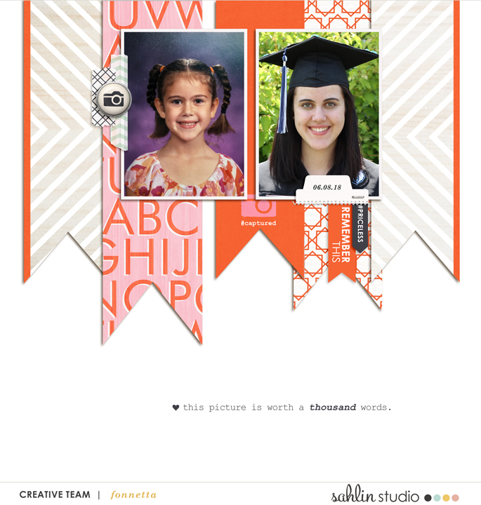 digital scrapbooking layout created by fonnetta featuring August '21 FREE Template by Sahlin Studio