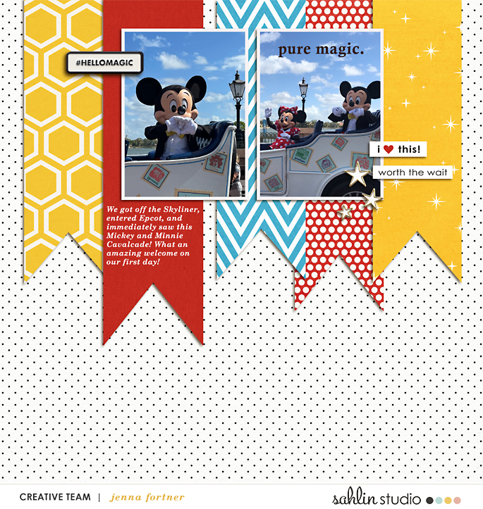 digital scrapbooking layout created by jenna featuring August '21 FREE Template by Sahlin Studio