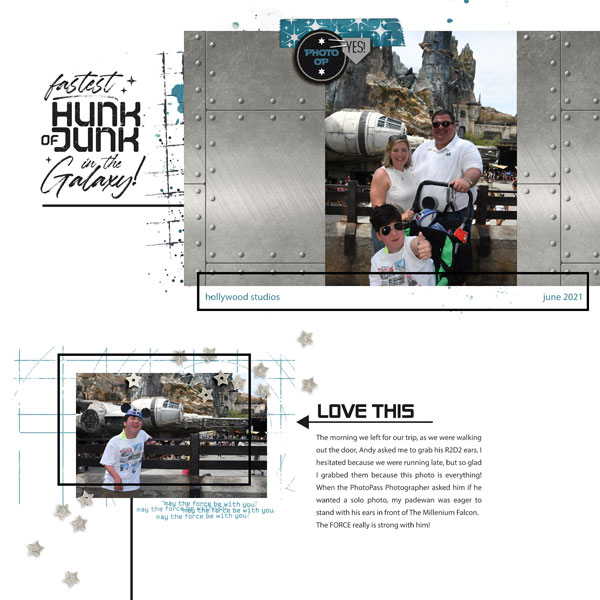 July 2021 Template Challenge Winner layout created by Disney Mom Missy
