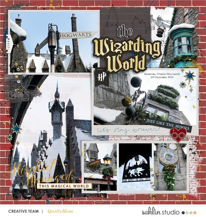 Harry Potter Wizarding World Flight of Hippogriff Digital scrapbooking page using Project Mouse (Wizarding) by Britt-ish Designs and Sahlin Studio
