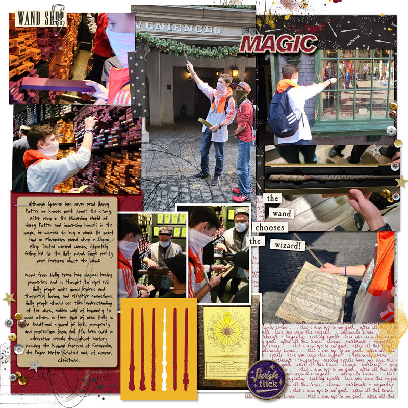 Harry Potter Wand Chooses the Wizard Digital project life page using Project Mouse (Wizarding) by Britt-ish Designs and Sahlin Studio