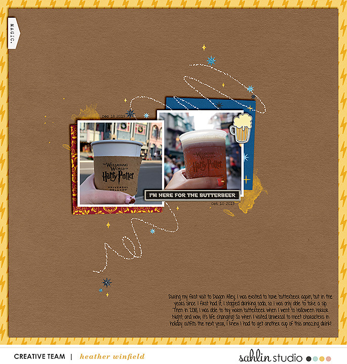 Harry Potter Butterbeer Digital scrapbook page using Project Mouse (Wizarding) by Britt-ish Designs and Sahlin Studio