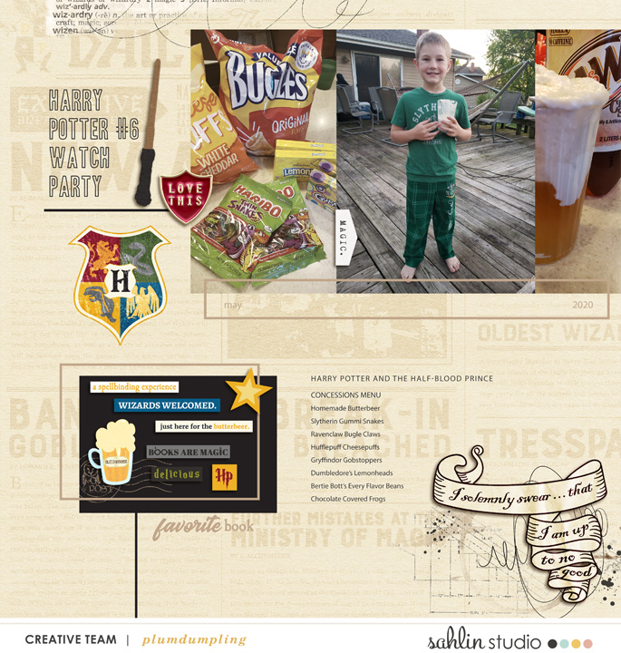 digital scrapbooking layout created by plumdumpling featuring Project Mouse (Wizarding) by Britt-ish Designs and Sahlin Studio