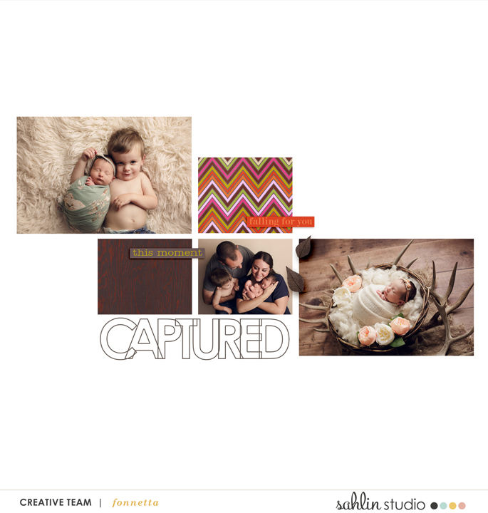 digital scrapbooking layout by fonnetta featuring September '21 FREE Template by Sahlin Studio