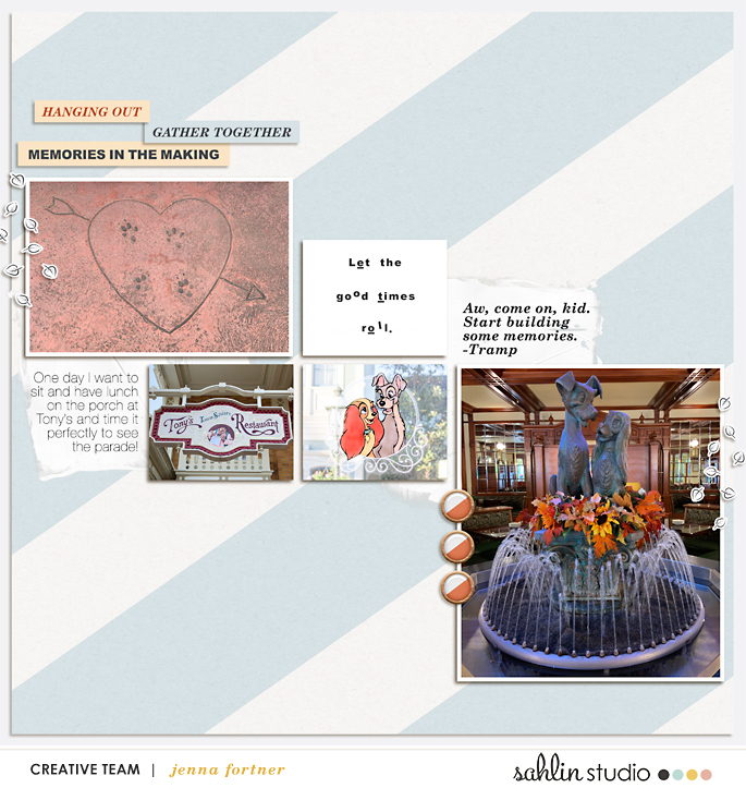 digital scrapbooking layout by jenna featuring September '21 FREE Template by Sahlin Studio
