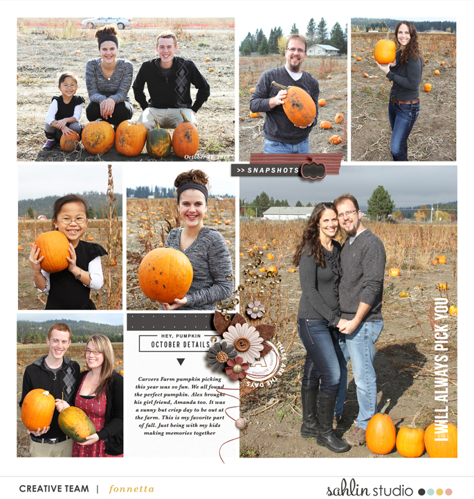 digital scrapbooking layout created by fonnetta featuring Autumn Stories by Sahlin Studio
