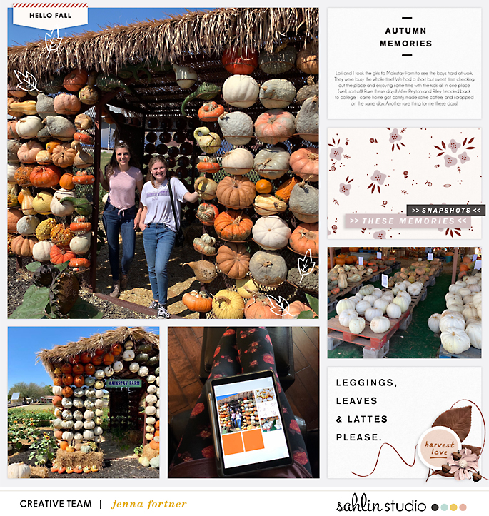 digital scrapbooking layout created by jenna featuring Autumn Stories by Sahlin Studio