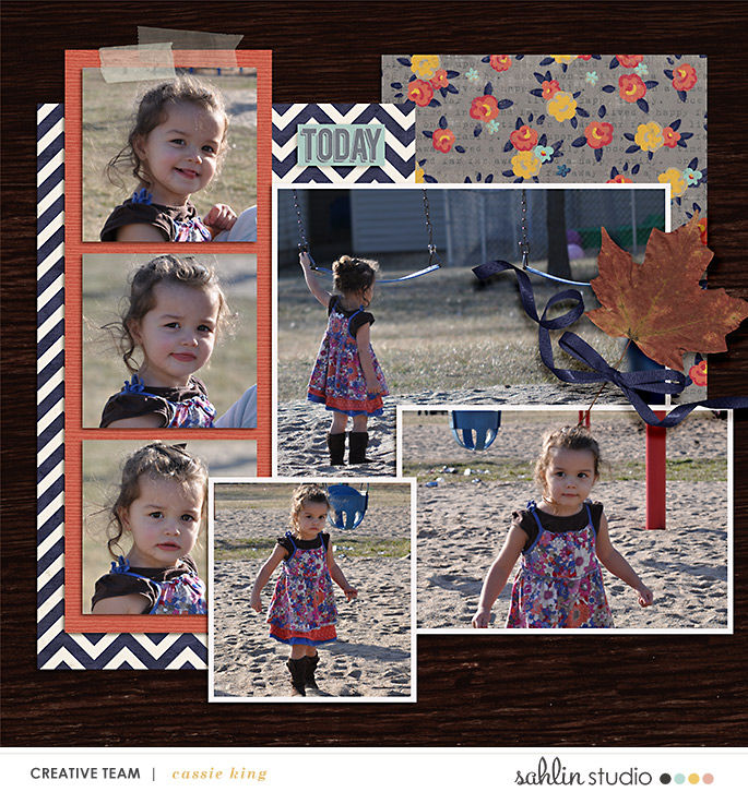 digital scrapbooking layout created by cassie king featuring October '21 Free Template by Sahlin Studio