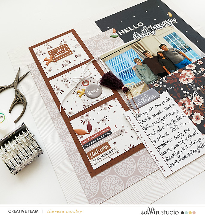 digital scrapbooking layout created by Theresa featuring October '21 Free Template by Sahlin Studio