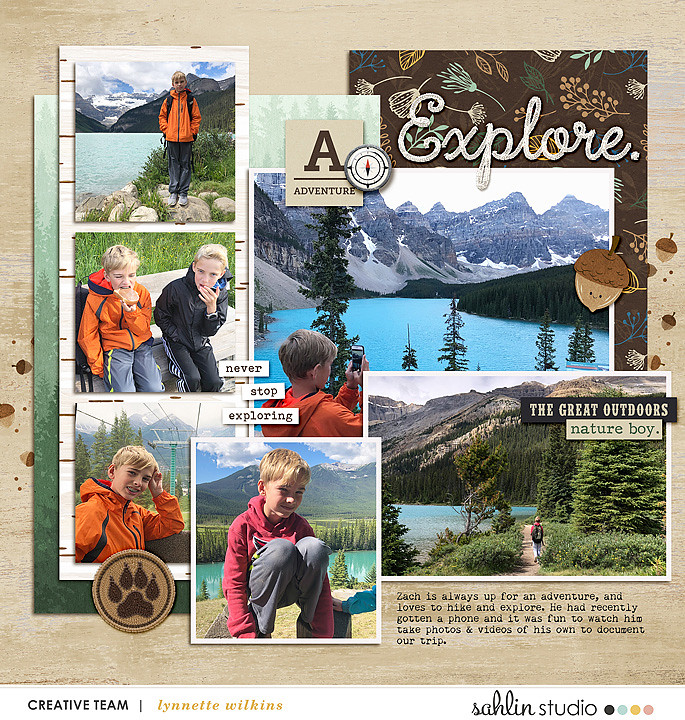 digital scrapbooking layout created by Lynnette featuring October '21 Free Template by Sahlin Studio