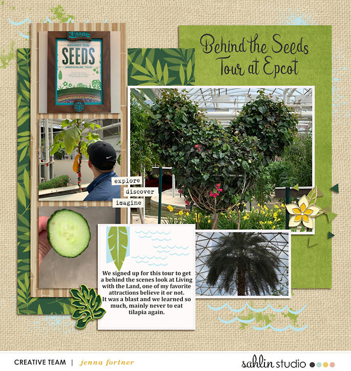 digital scrapbooking layout created by jenna featuring October '21 Free Template by Sahlin Studio