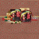 """Digital Scrapbook page created by kristasahlin featuring """"Around The World"""" and """"A Taste of Mexico"""" by Sahlin Studio and Britt-ish Designs"""