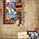 """Digital Scrapbook page created by britt featuring """"Around The World"""" and """"Taste of Germany and Norway"""" by Sahlin Studio and Britt-ish Designs"""