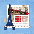 """Digital Scrapbook page created by monsu featuring """"Around The World"""" and """"Taste of France and Italy"""" by Sahlin Studio and Britt-ish Designs"""